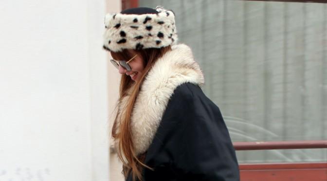 Dalmatian fur hat